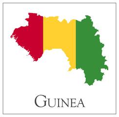 Guinea flag map