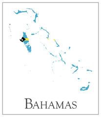 Bahamas flag map
