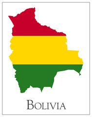Bolivia flag map