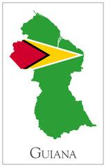 Guyana flag map