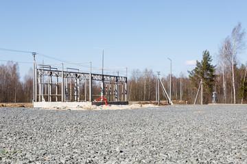 Gas station under construction