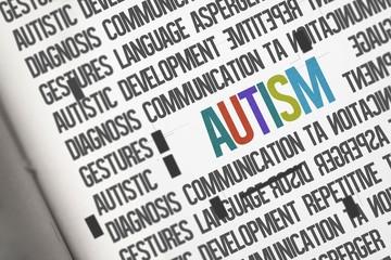 Autism against open book
