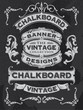 Collection of banners and ribbons on a black background - 81560863