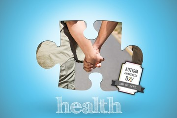 Health against blue background with vignette