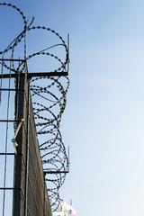 Zaun mit Stacheldraht