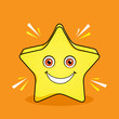 Shinning Star Mascot Cartoon Vector Design
