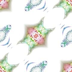 Seamless kaleidoscope texture or pattern on white background 1