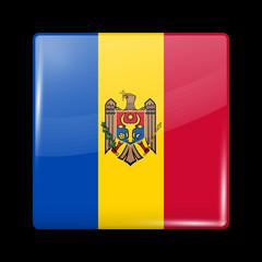 Flag of Moldova. Glossy Icons