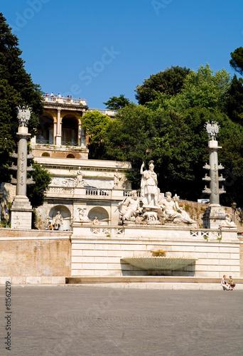 Leinwanddruck Bild Piazza del Popolo