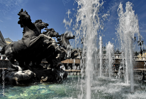 Leinwanddruck Bild Mosca, fontana 3