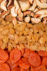dried fruits as a background