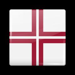 Flag of Latvia. Glossy Icons