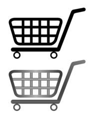 illustration of shoping cart isolated on white background