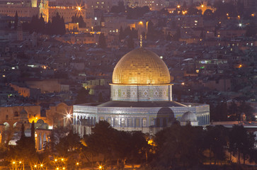 Jerusalem - Outlook from Mount of Olives to Dome of Rock