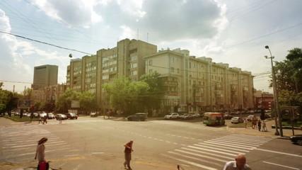 Moscow Timelapse street summer hot