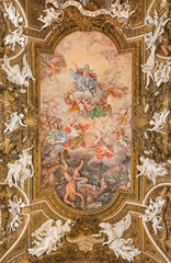 Rome - ceiling - Triumph of Virgin in S. M. della Vittoria