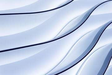 Blue gradient lighting wavy lines - abstract background