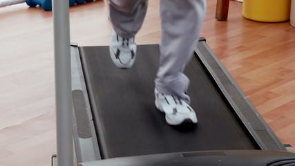 Active senior exercising
