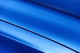Fototapety Surface of blue sport sedan car metal hood; vehicle bodywork
