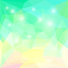 Abstract bright polygonal triangular geometric background