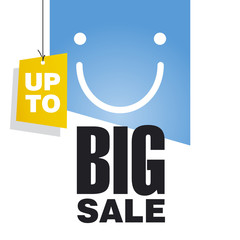 Up to Big Sale blue background