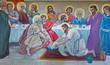 Bethlehem - fresco of Feet washing at the last supper