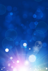 Abstract Blue Sunshine Background
