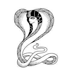 Mythological Snake with head of woman