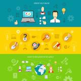 Design support banner horizontal poster