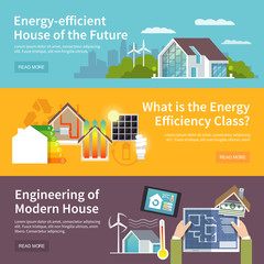 Energy Saving House Banner