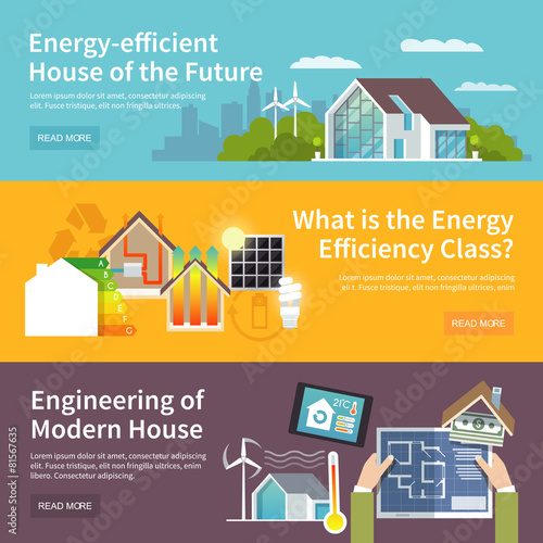 Energy Saving House Banner - 81567635
