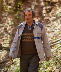 Senior woodcutter