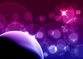 Purple Bubbles - Business Card Background with copyspace for you