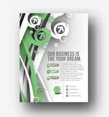 Global Business Flyer Template Design