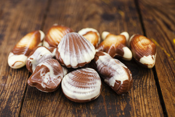 chocolates in the form of cockleshells