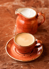 Coffee espresso and milk
