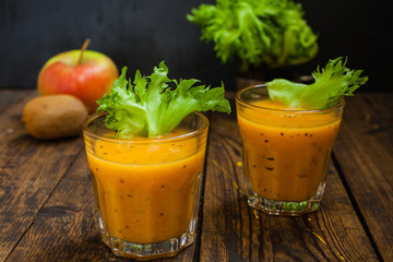 cocktail from vegetables and fruit