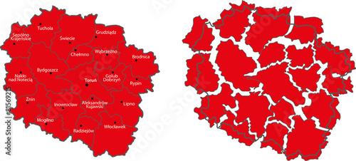 map Kujawsko-Pomorskie