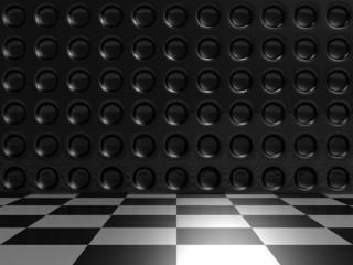Aluminum Dark Silver Metallic And Checker Background