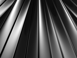 Abstract Silver Metallic Waved Surface Background