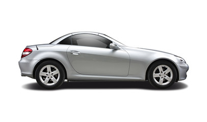 Sport coupe isolated on white