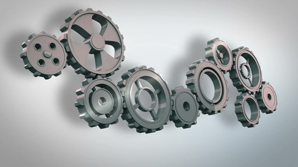 Cogs and wheels turning