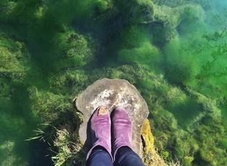 прозрачное озеро