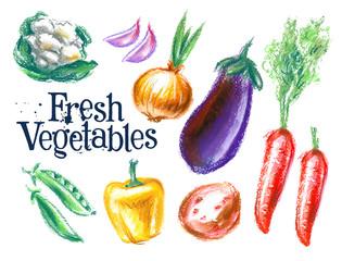 ripe vegetables vector logo design template.  fresh food or