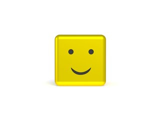 Smiley 3d dice
