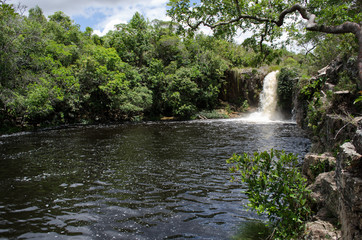 São Bento waterfall in Chapada dos Veadeiros, Brazil