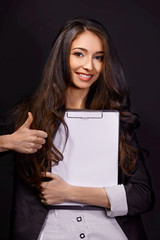 Portrait of  business woman with smiles