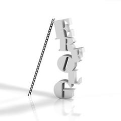 Erfolg - Typo - Leiter