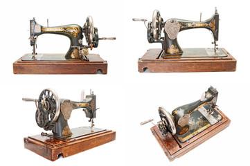 Set of vintage sewing machines