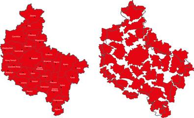 Map of the Wielkopolska region
